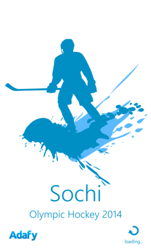 Sochi Hockey splash screen